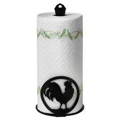 Found it at Wayfair - Pantry Rooster Paper Towel Holder in Black