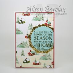 Gothdove Designs - Alison Barclay - Stampin' Up! Australia - Stampin' Up! Cozy Christmas #stampinup #stampinupaustralia #gothdovedesigns #christmas #card #doily #gold
