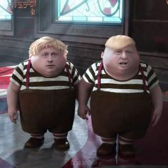 Dubbed the Tweedledee and Tweedledum of Western leaders, America's Donald Trump and Britain's PM Boris Johnson have more in common than what is publicly known. Donald Trump, Infj, Funny Google Searches, American Idiot, Jamel, Boris Johnson, Satire, Dumb And Dumber, The Funny