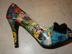 Awesome! Comic book shoes.....interesting