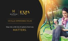 THE HEMISPHERE PRESENTS EXPA VILLA Live life villa style Own a premium #luxury #Villa in the heart of #GreaterNoida , just steps away from Alpha 2 Metro Station. Each unit is 143 SQ.YD. in size.