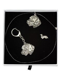 NEW, Teckel Wirehaired, dog keyring, necklace and pin in casket, ELEGANCE set, limited edition, ArtDog * Check out the image by visiting the link. (This is an affiliate link) #JewelrySets