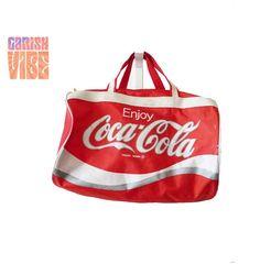 Vintage COKE CAN Novelty Duffle Bag  Pop Art by GarishVibeVintage, $65.00
