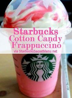 Starbucks Frappuccino, Starbucks Coffee, Cotton Candy Frappuccino, Starbucks Secret Menu Drinks, Starbucks Caramel, Non Alcoholic Drinks, Fun Drinks, Yummy Drinks, Cocktails