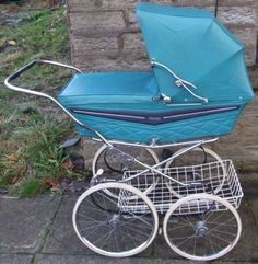 Reduced,Coachbuilt, vintage Marmet pram, unusual colour,for baby or reborn