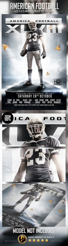 Big Game Football Flyer Template | Games Football, Flyer Template