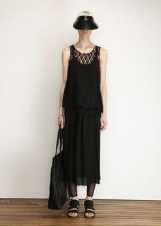 Totokaelo - Raquel Allegra Black Skirt Slip