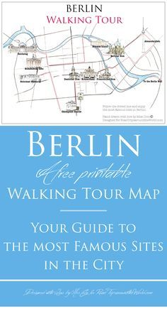Berlin Map - Berlin Walking Tour to the most famous sites in the city - check roadtripsaroundtheworld.com for more info