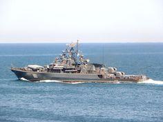 "Krivak-Class Missile Frigate ""Ladny"" of the Russian Black Sea Fleet."
