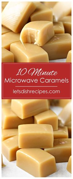 Caramel Crunch, Caramel Candy, Chocolate Candy Recipes, Caramel Recipes, Baking Recipes, Dessert Recipes, Microwave Recipes, Microwave Oven, Microwave Caramels