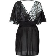 La Perla Magic Black Silk and Leavers Lace Short Dress (€1.240) ❤ liked on Polyvore featuring dresses, silk wrap dress, beach dresses, short lace cocktail dress, sequin cocktail dresses and lace dress