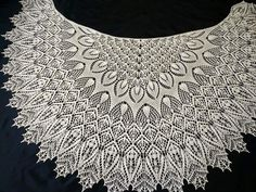 Фотография Lace Knitting Stitches, Lace Knitting Patterns, Shawl Patterns, Macrame Patterns, Lace Patterns, Crochet Collar Pattern, Free Crochet Doily Patterns, Crochet Doilies, Knitted Shawls