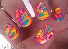 Tye-dye nails