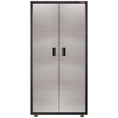 Gladiator 36 in. W x 72 in. H x 18 in. D Freestanding Steel Cabinet in Hammered Granite, The Home Depot, $245.65 was $289.00