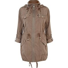 Light brown utility parka jacket - parkas - coats / jackets - women