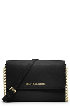 MICHAEL Michael Kors 'Jet Set Travel' Saffiano Leather Crossbody Bag | Nordstrom
