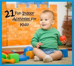 Indoor Activities for Kids http://3boysandadog.com/21-fun-indoor-activities-for-kids/