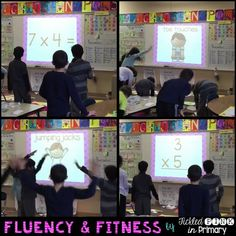 Multiplication and brain breaks in one! Fluency & fitness lets your ...