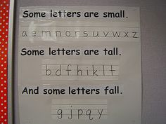 Handwriting poster--would be great to add these as they're introduced