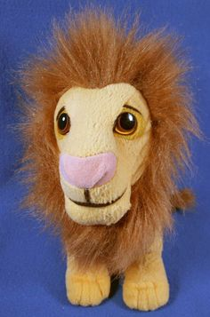 "Disney Mattel 9"" Authentic Plush King Simba Standing Adult All Gold 1994 Toy #Disney"