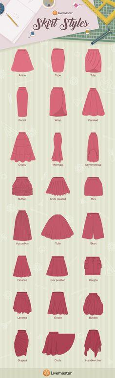 Skirt Styles Guide from Livemaster - Livemaster - original item, handmade