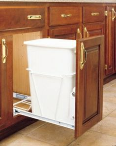 Single Trash Pullout 35 Quart -White (#RV-12PB) by Rev-A-Shelf