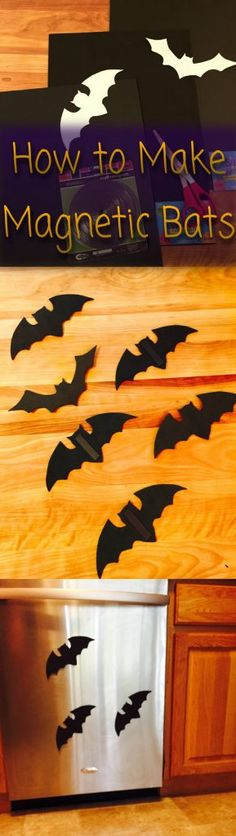 "DIY Magnetic Bats for a ""batty"" Halloween Decorations! Halloween Season, Halloween Diy, Creepy Halloween Decorations, Hallowen Ideas, All You Need Is, Bats, Trick Or Treat, Magnets, Diy Crafts"