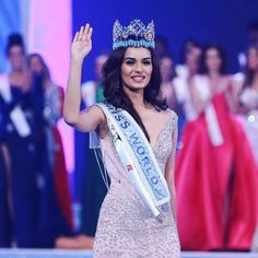 """17.8k Likes, 74 Comments - Miss World (@missworld) on Instagram: """"Our beautiful Miss World  Manushi Chhillar @manushi_chhillar  walking after she was crowned as…"""""""