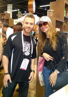 Andy (OV Employee) got to meet the hit T.V. actress Sofia Vergara at a Natural Products Expo in California!