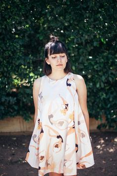 Swimmers Print Dress  Tent Loose Dress  Holiday by noemiah on Etsy