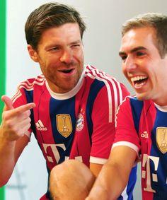 Xabi Alonso, Philipp Lahm.