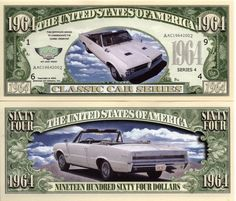 1964 GTO - Classic Car Series Million Dollar Novelty Money