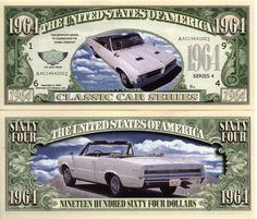1964 GTO - Classic Car Series Million Dollar Novelty Money