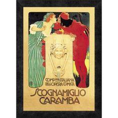 Global Gallery 'Scognamiglio Caramba' Framed Vintage Advertisement Size: