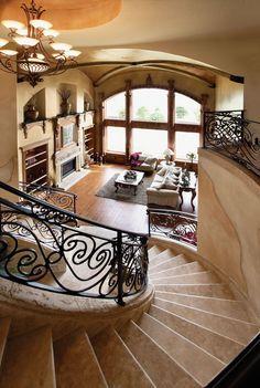 Hamburg Hill Luxury Home Great Room Photo 01 from houseplansandmore.com #ItalianInteriorDesign