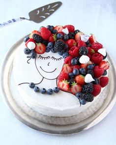 no Dessert Decoration, Pavlova, Let Them Eat Cake, I Love Food, Yummy Cakes, Baking Recipes, 4th Of July, Cake Decorating, Food And Drink
