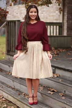 Did you catch all our new releases? Our Corinne top and Tory skirt make a beautiful combo for any holiday party! Available now!