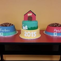 Celebrating our 3rd straight year on Forbes list of America's Most Promising Companies with a tasty trifecta of cake!