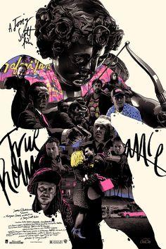 "2014 ""True Romance"" - Detroit Silkscreen Movie Poster by Domaradzki Dm Poster, Poster Design, Art Design, Poster Prints, Detroit, Art Actuel, Design Editorial, True Romance, Romance Movies"