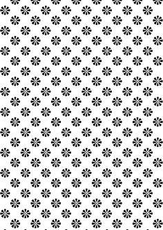 FREE printable floral pattern paper ^^  # blackandwhite