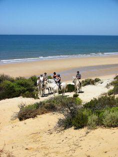 Rando à cheval sur les plages andalouses en Espagne #plage #chevaux