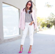 White + stripe