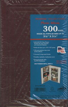 Pioneer Deluxe Cover Photo Album 300 Pockets Burgundy Gold STC-35 #Pioneer