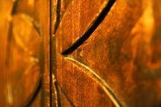 Symbol of the castle on the wooden door