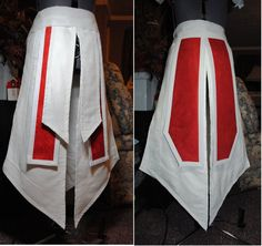 3 days of snipping, cutting, taping and scrawling lines, and the tunic mockup is ready to start sewing in fabric today! There is an inner tunic (which extends to the knees) and the outer doublet, w...