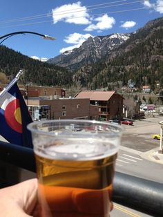 View from the rooftop deck at the Ouray Brewery in Ouray, Colorado. One of my favorite places ever! And the Camp Bird Blonde is a pretty tasty brew...