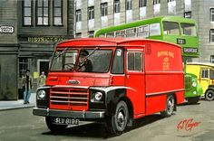 The showcase site for the creative work of WD, GS, and DP Cooper Classic Trucks, Classic Cars, Transport Pictures, Nostalgic Art, Road Transport, Air Fighter, Tin Art, Bus Coach, Vintage Vans