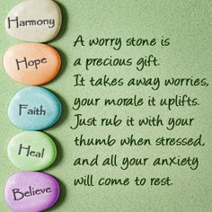 Create a worry stone for an area to focus on improving Therapy Worksheets, Therapy Games, Therapy Tools, Therapy Activities, Art Therapy, Anxiety Relief, Stress Relief, Stone Quotes, Test Anxiety
