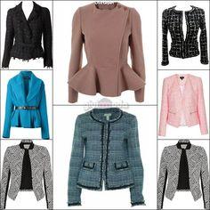 office style key pieces - tweed jackets =>http://www.giyimvemoda.com/bayan-ofis-kiyafetleri-ve-temel-parcalar.html