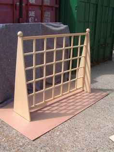 Free standing with feature balls. Timber Screens, Bespoke Design, Trellis, Balls, Upcycle, Cycling, Layout, Flooring, Garden